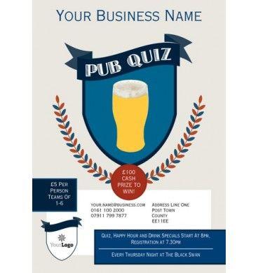 A5 Pub Quiz Leaflets - #flyers #printing #designs A5 Flyer - online quiz templates