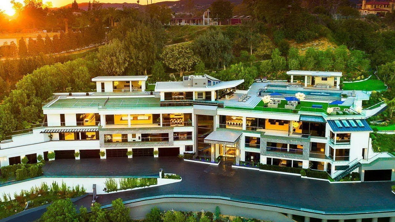 100,000,000 Modern Contemporary Bel Air Mega Mansion