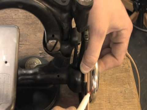 How To Install Antique Singer Sewing Machine Belts YouTube Unique Singer Sewing Machine Belts