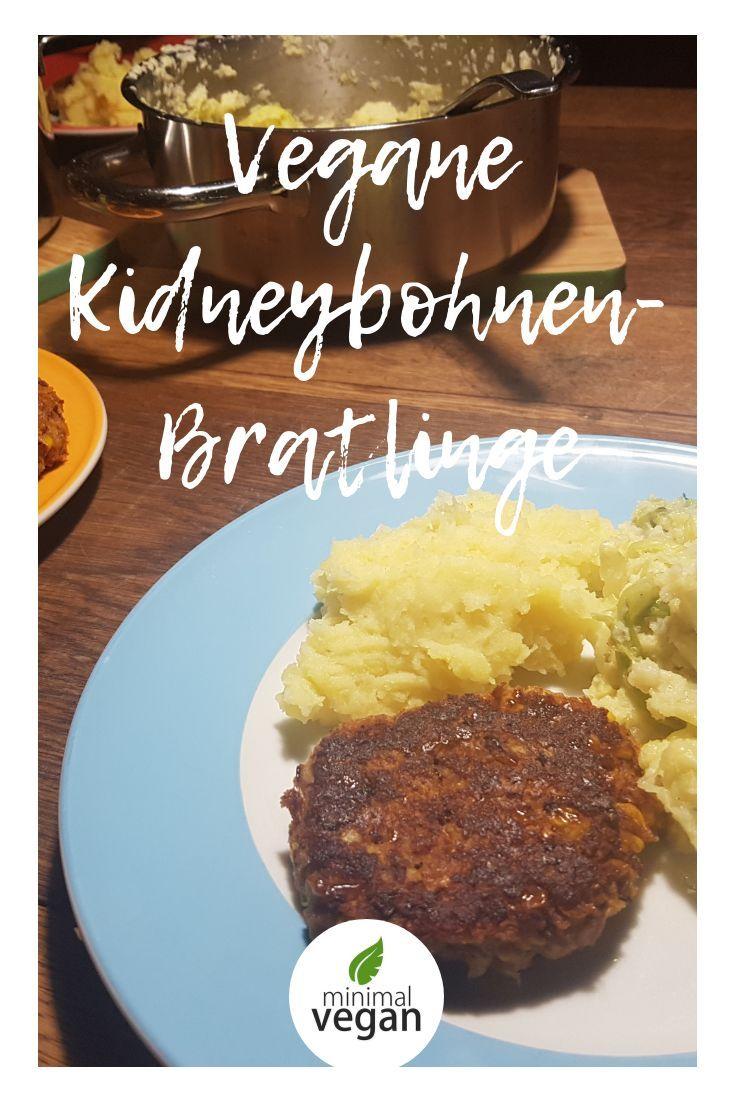 Rezept für Bratlinge oder auch Burgerpatties mit Kidneybohnen und Mais - vegan - rein pflanzlich - mit Haferflocken - einfach - schnell - mit Mais und Kidneybohnen - können eingefroren werden - geht auch ohne Mixer (nur mit Pürierstab oder Kartoffelstampfer / Gabel) #hamburgermeatrecipes
