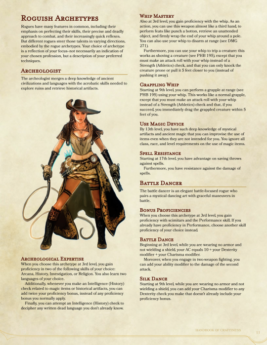 DnD 5e Homebrew    Roguish Archetypes | 5th Edition D&D in 2019