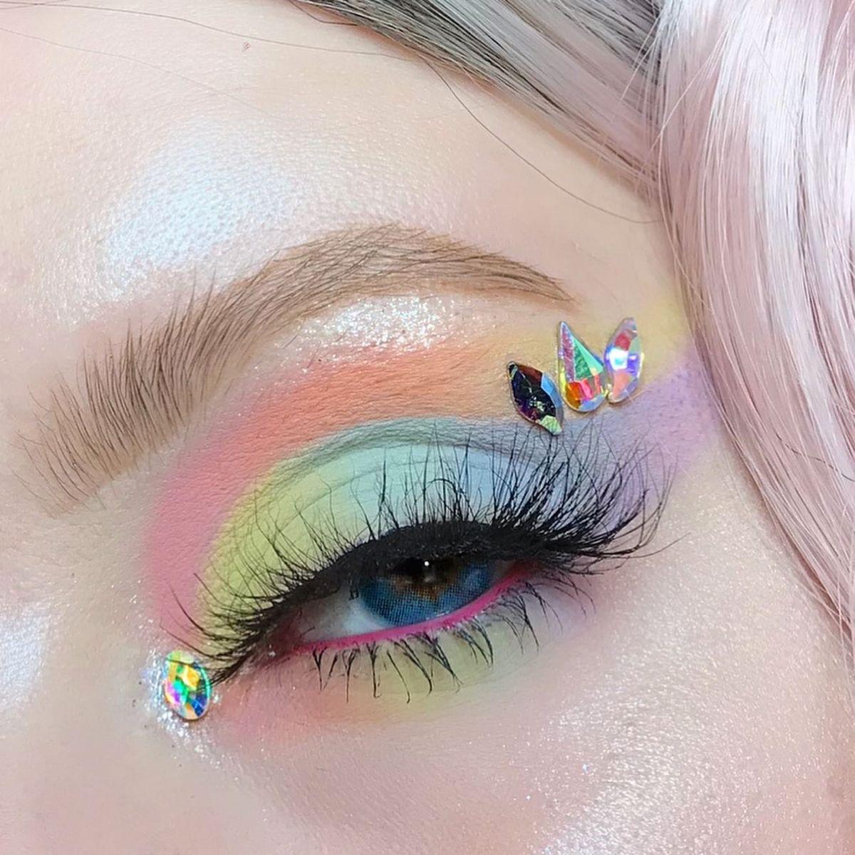 Pastel💕 Morphe 35i in 2020 Colorful makeup, Eye makeup