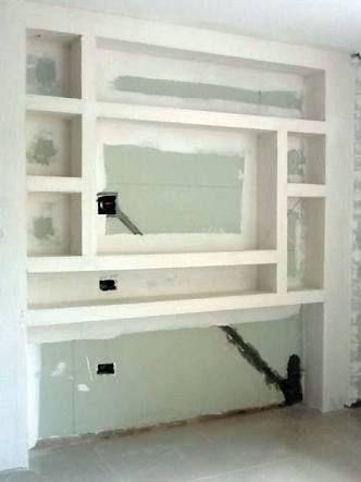 Resultado de imagem para nichos alvenaria escritório Decorations