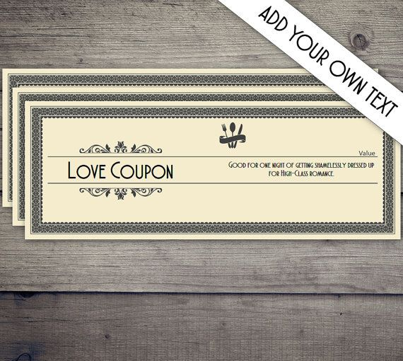 Coupon Book Coupon Template Love Coupon Date Night Coupon Love