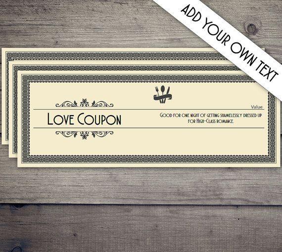 Coupon Book Coupon Template Love Coupon Date Night Coupon Love