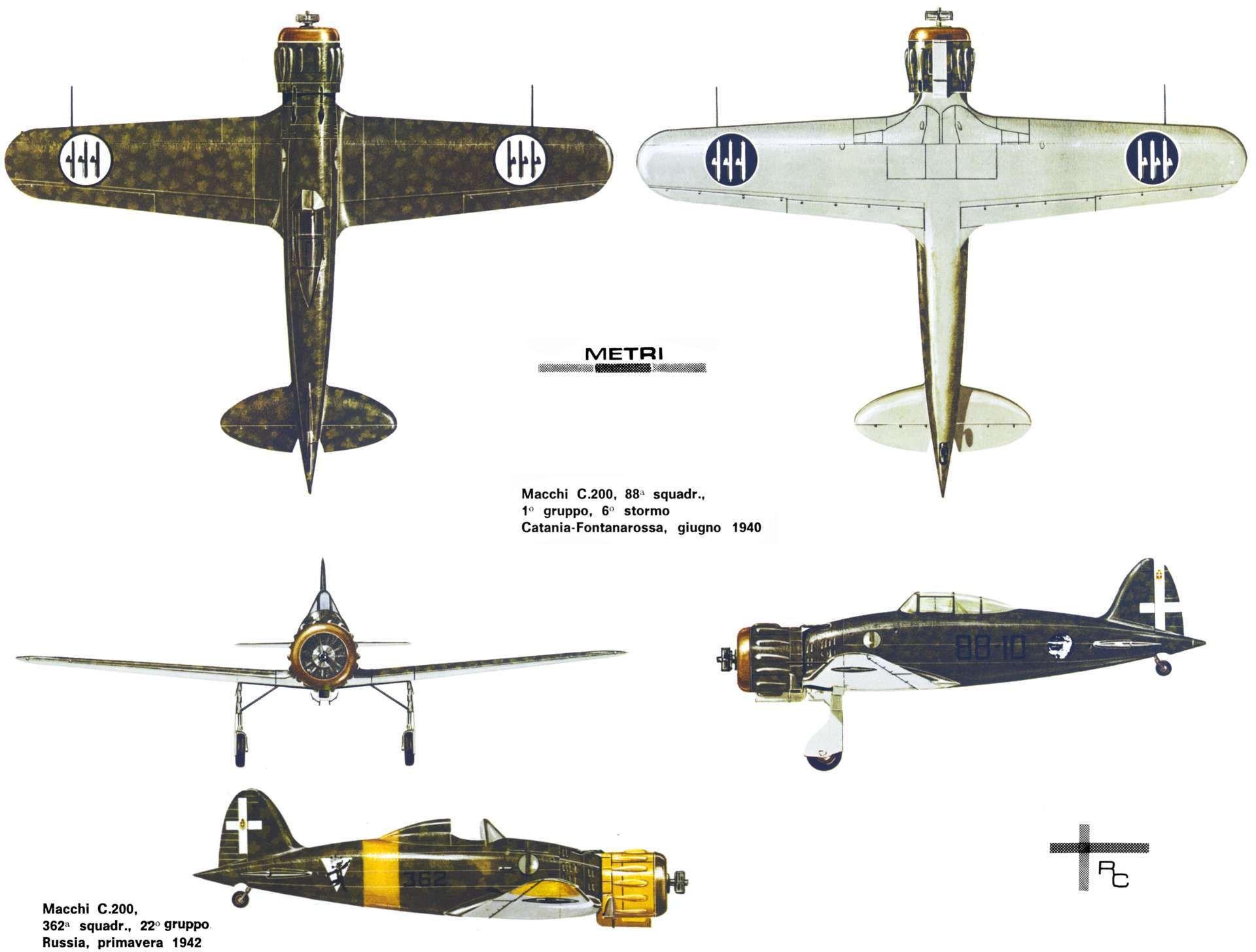 Caproni Vizzola F5 (1939) | Samoloty plansze | Pinterest | Aircraft ...