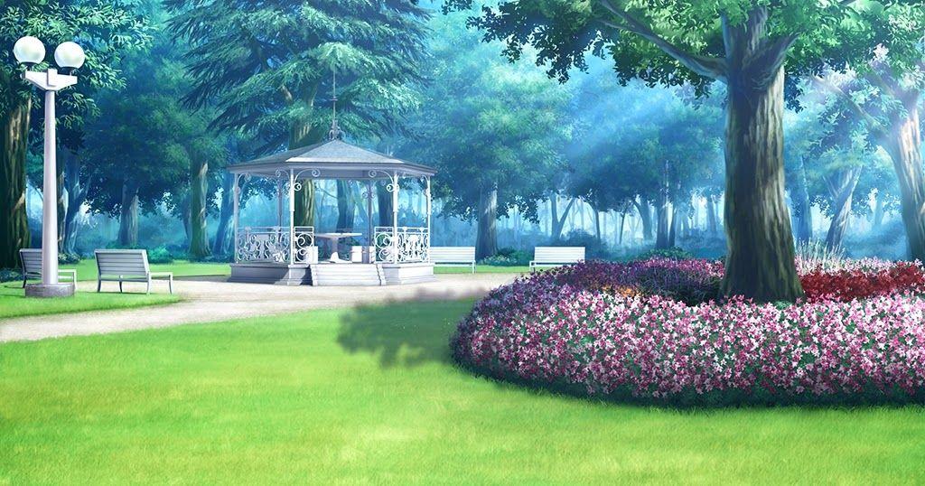 Park Background Pemandangan Anime Latar Belakang Pemandangan Khayalan