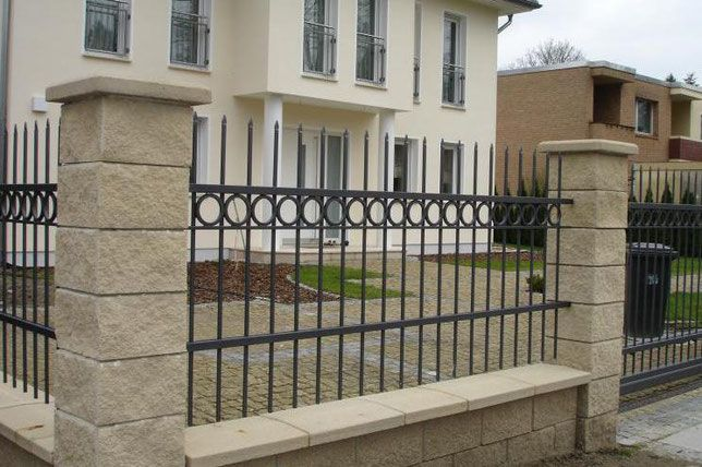 Moderne Metallzäune Schmiedezäune / Sichtschutztore