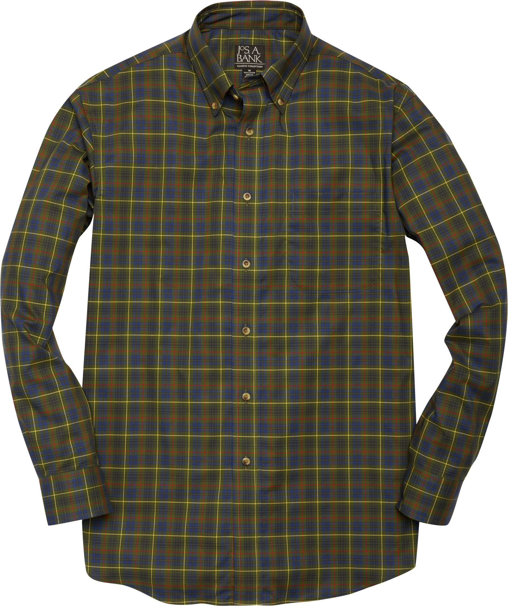 Classic Collection Traditional Fit Plaid Sportshirt