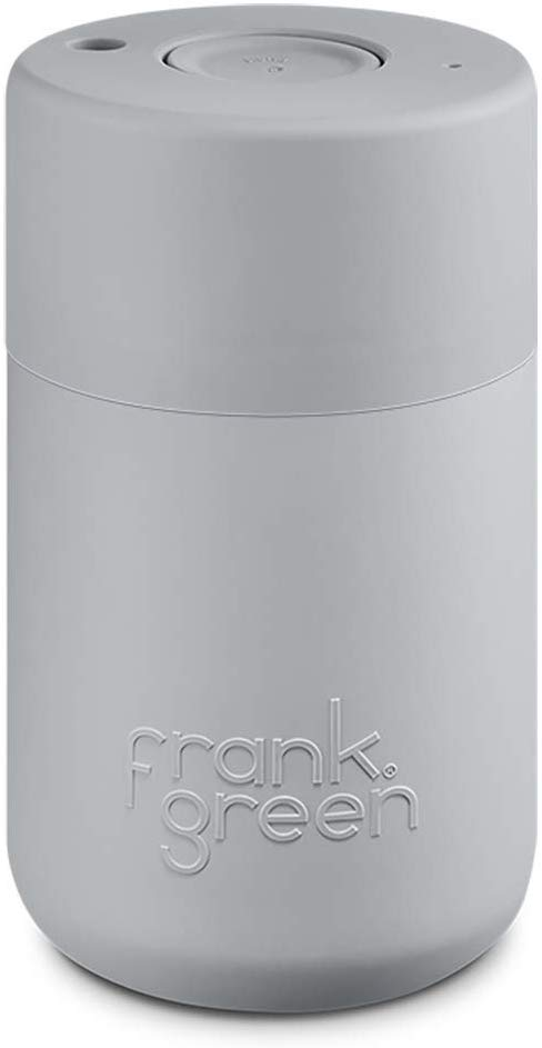 Frank Green Travel Coffee Mug 12oz With Double Walled Plastic Outer Layer Coconut Milk Kitchen Dining In 2020 Green Travel Coffee Travel Green