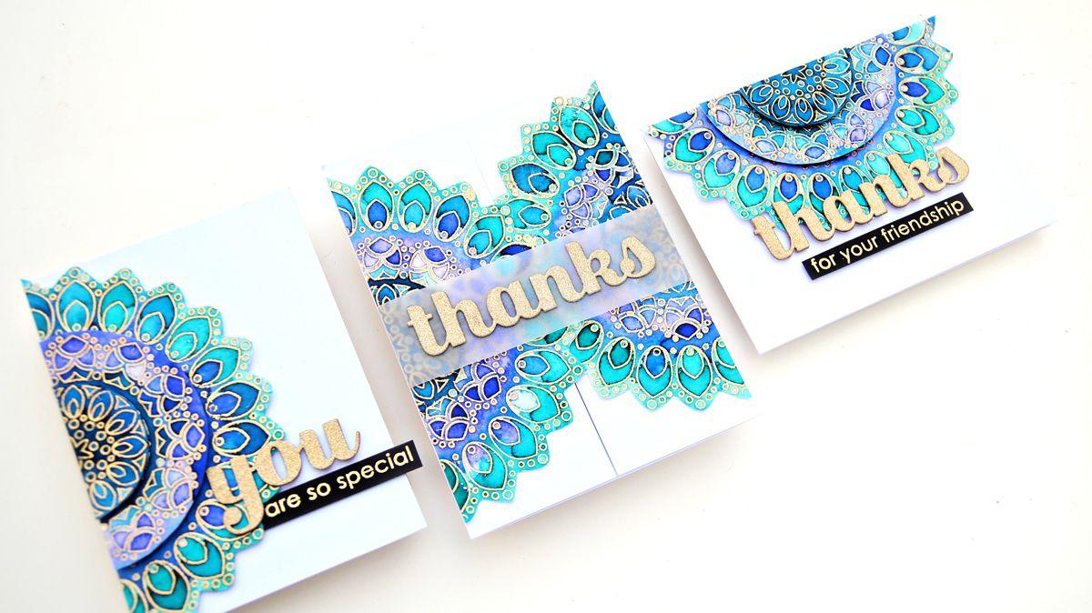 Vibgyor Krafts Birch Press Design Card Set Video In 2020 With