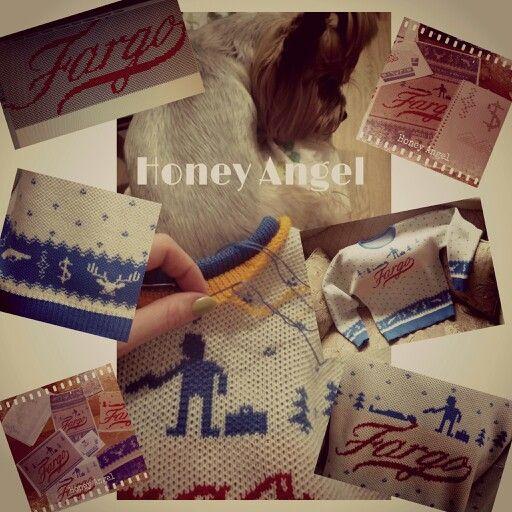 """Заказ в работе. По мотивам сериала """"Фарго"""". По всем вопросам пишите в личку или ajur.com.ua@i.ua  #honeyangel #knitting #fashion #дизайнерскийтрикотаж #киев #ажур #ajur #ручнаяработа #handmade #авторскийтрикотаж #купить #подарок #look #moda #мода #ajurcomua #ручная_работа #жаккард #фарго #fargo"""