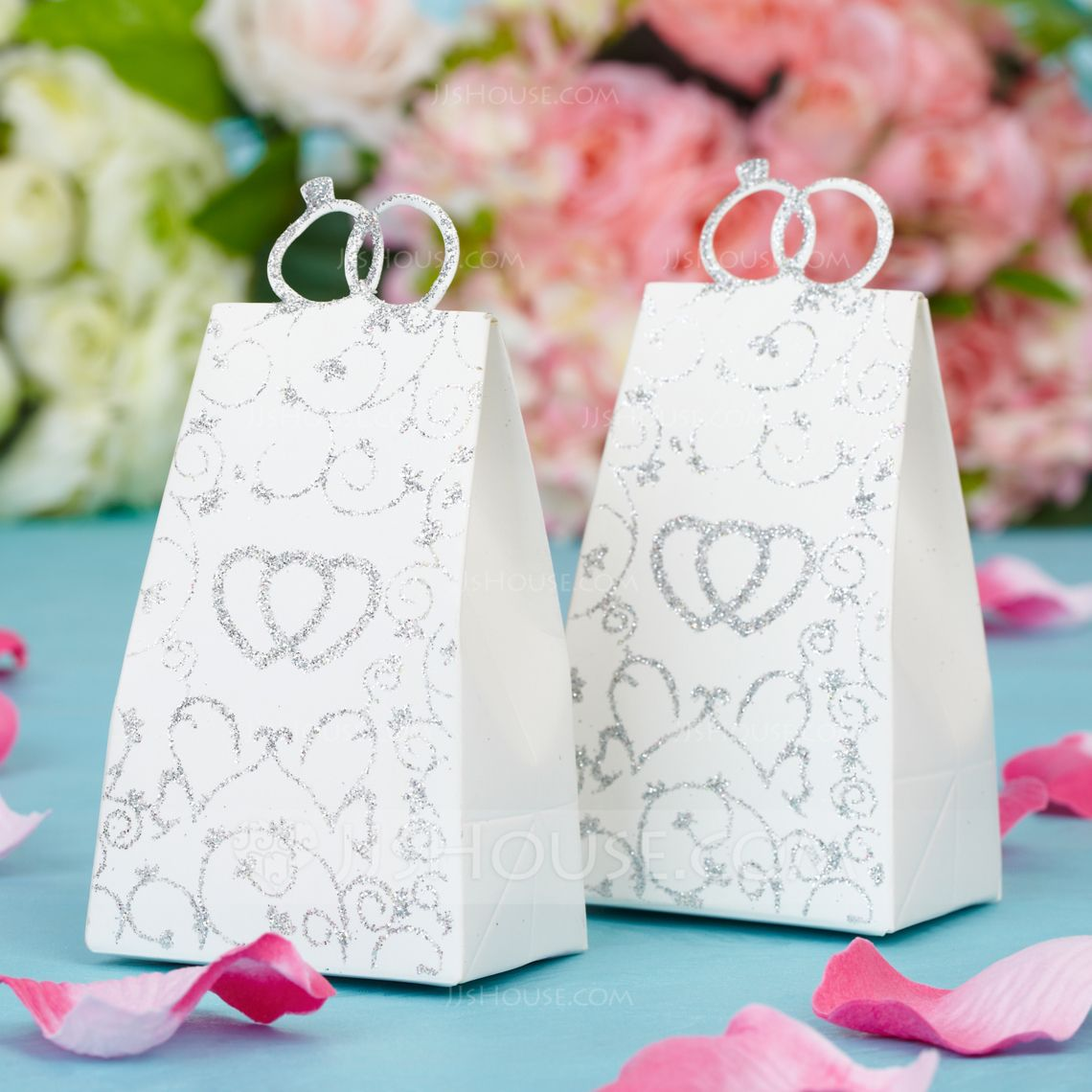 Double Heart Handbag shaped Favor Boxes (Set of 12) (050038232 ...