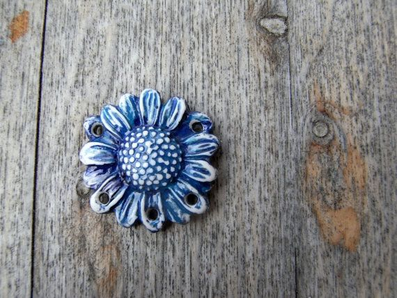 Gorgeous polymer clay pendant