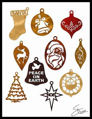 scroll saw christmas ornaments. set of ten christmas ornament scroll saw patterns. ornaments