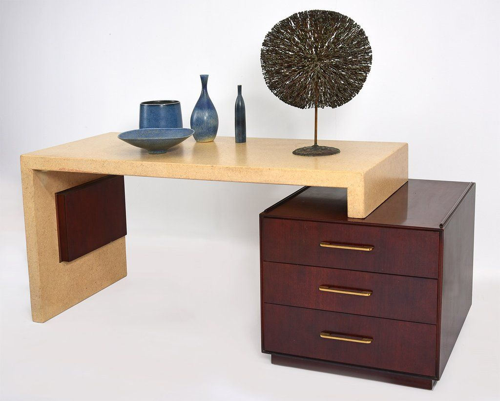 Paul Frankl Cork Desk For Johnson Furniture Circa 1950s Furniture Desk Mahogany Desk