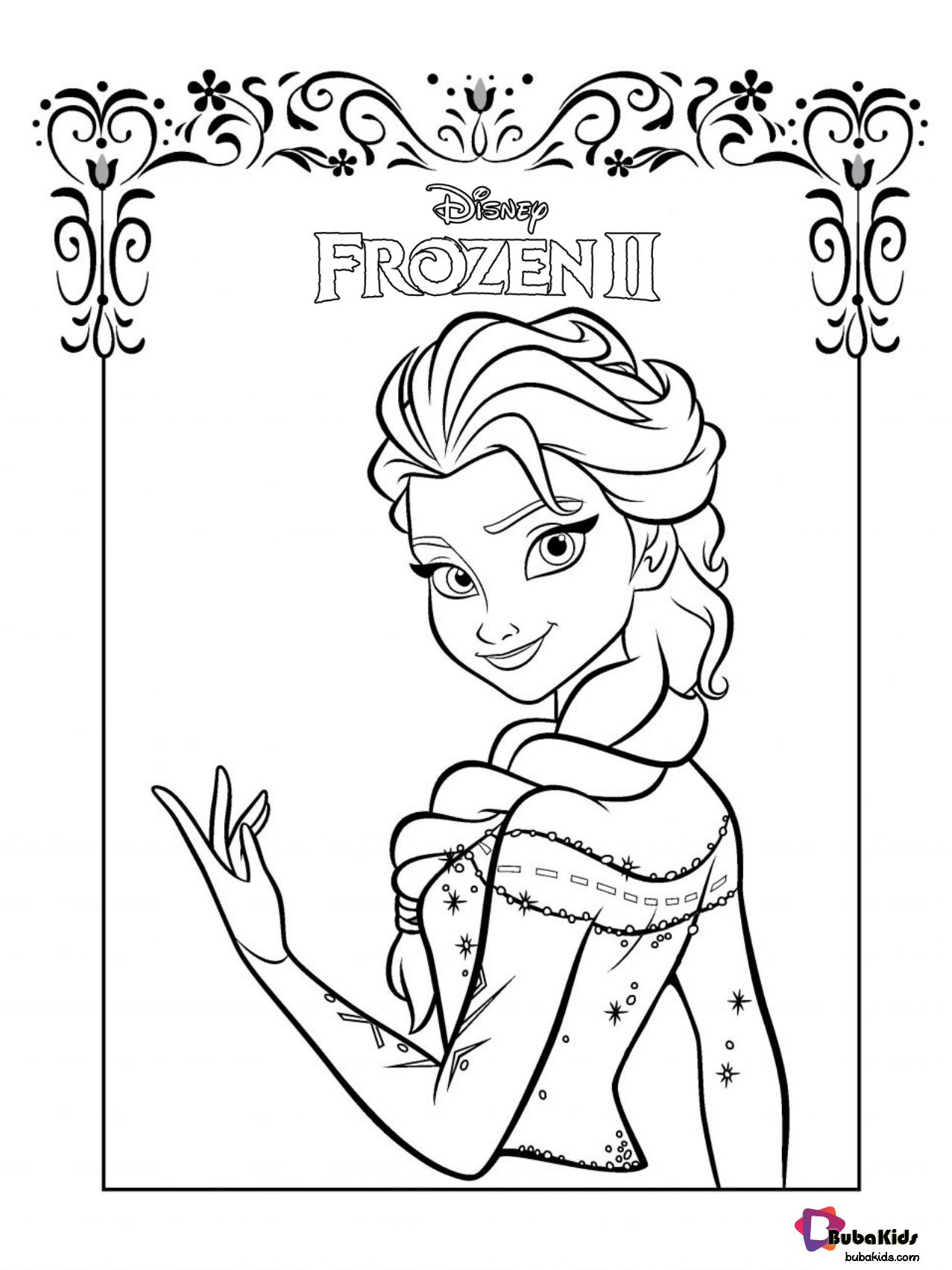 Frozen 2 Beautiful Queen Elsa Coloring Page Free Download And Printable Collection Of Cartoon Colo Frozen Coloring Pages Elsa Coloring Pages Frozen Coloring