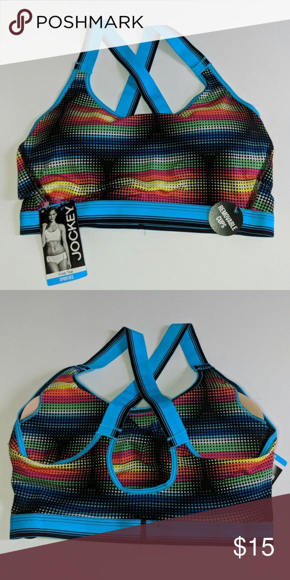e51ff3eacb91d ️Jockey Crop Top Sports bra‼ Colorsplassshhh! A very comfortable sports bra