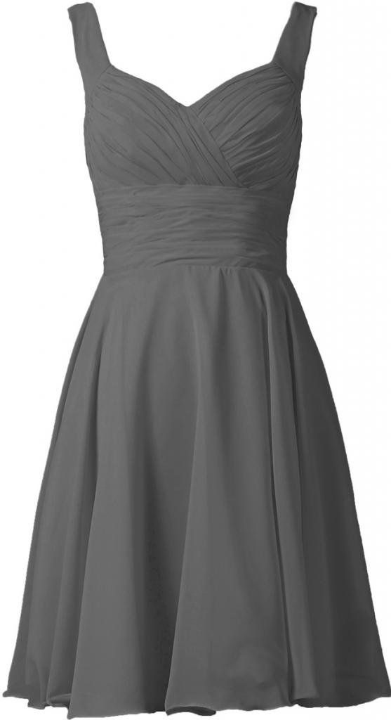 c4b9b5d8f7 Grey Bridesmaid Dresses With Strapless Neckline Short Gray ...