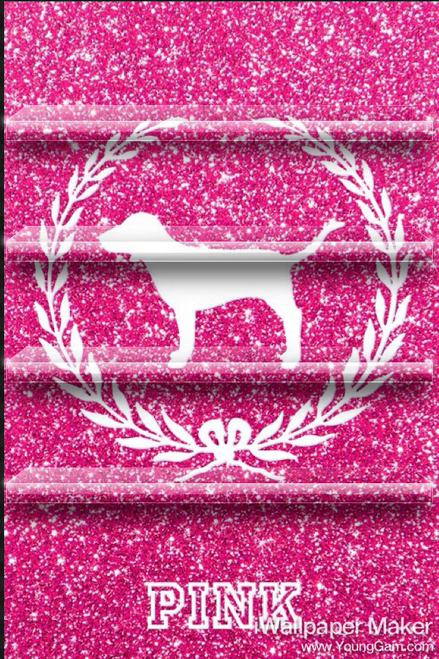 Pink VS sparkle IPhone home screen | VS PINK Wallpaper | Pinterest | Pink wallpaper, Vs pink ...