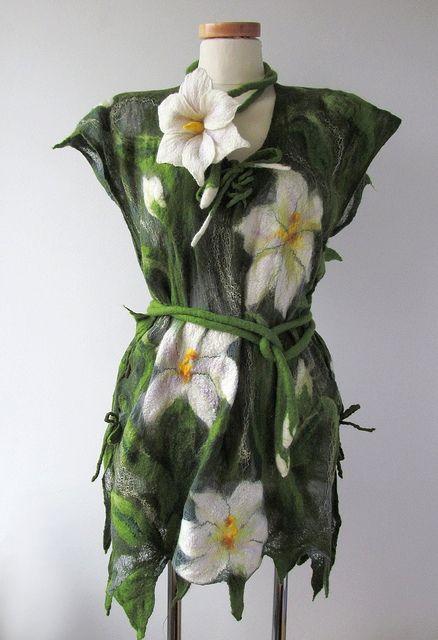 Nuno felted tunic - Lilac by GalaFilc, via Flickr #nunofelted #vest #tunic #felting #clothing