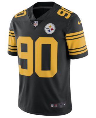 3173156e05b Nike Men s T.j. Watt Pittsburgh Steelers Limited Color Rush Jersey - Black  XXL