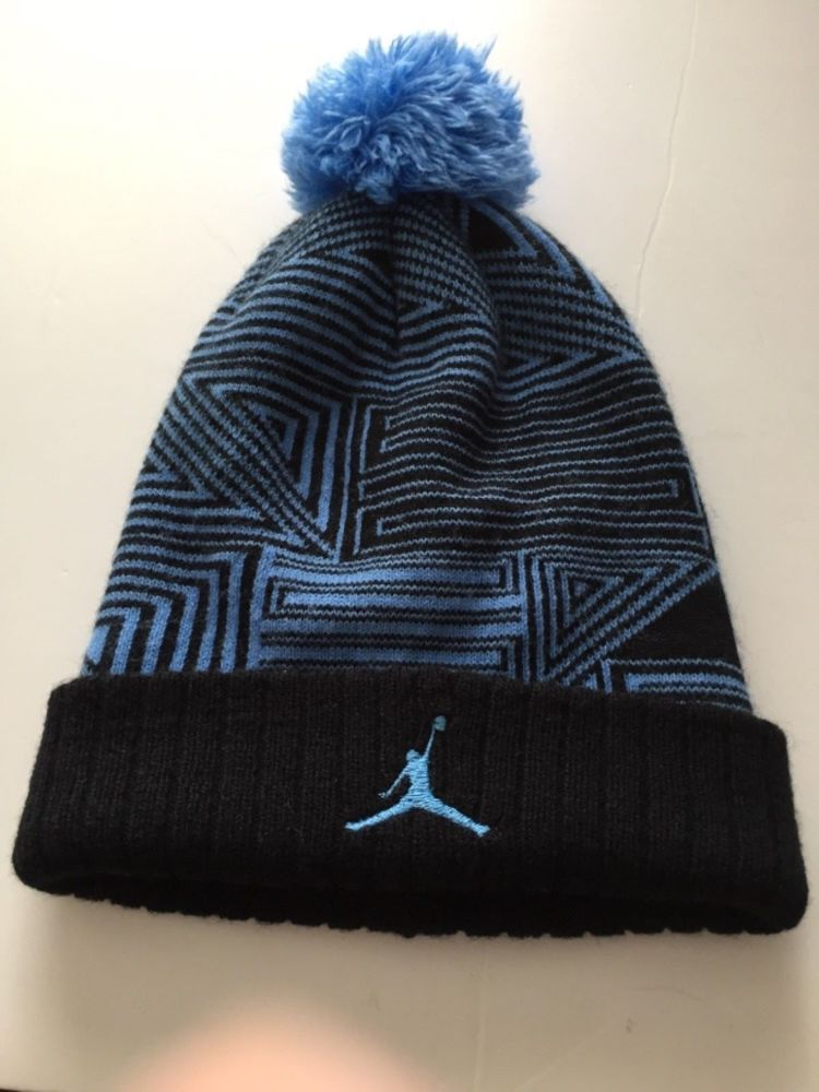 e31c33ef8b020d AIR JORDAN RETRO XI 11 KNIT BEANIE BLACK LEGEND BLUE SIZE  YOUTH  Jordan   Beanie
