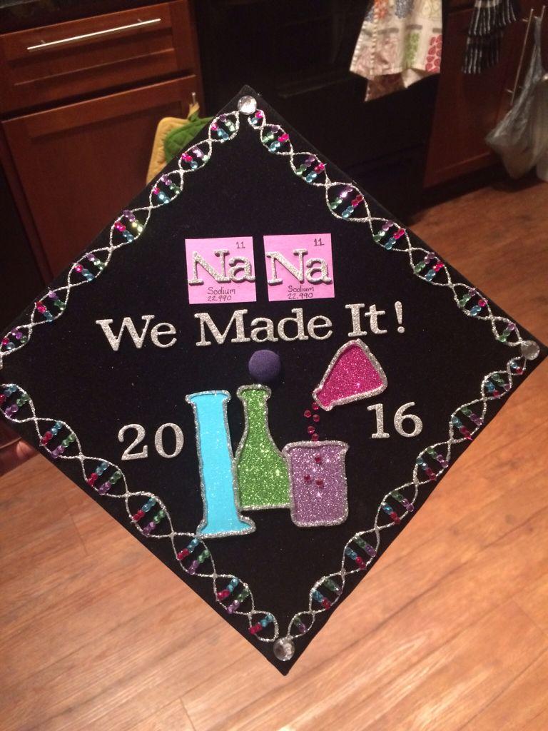 Biology themed graduation cap. Dedicated to my NaNa.   Graduation ...