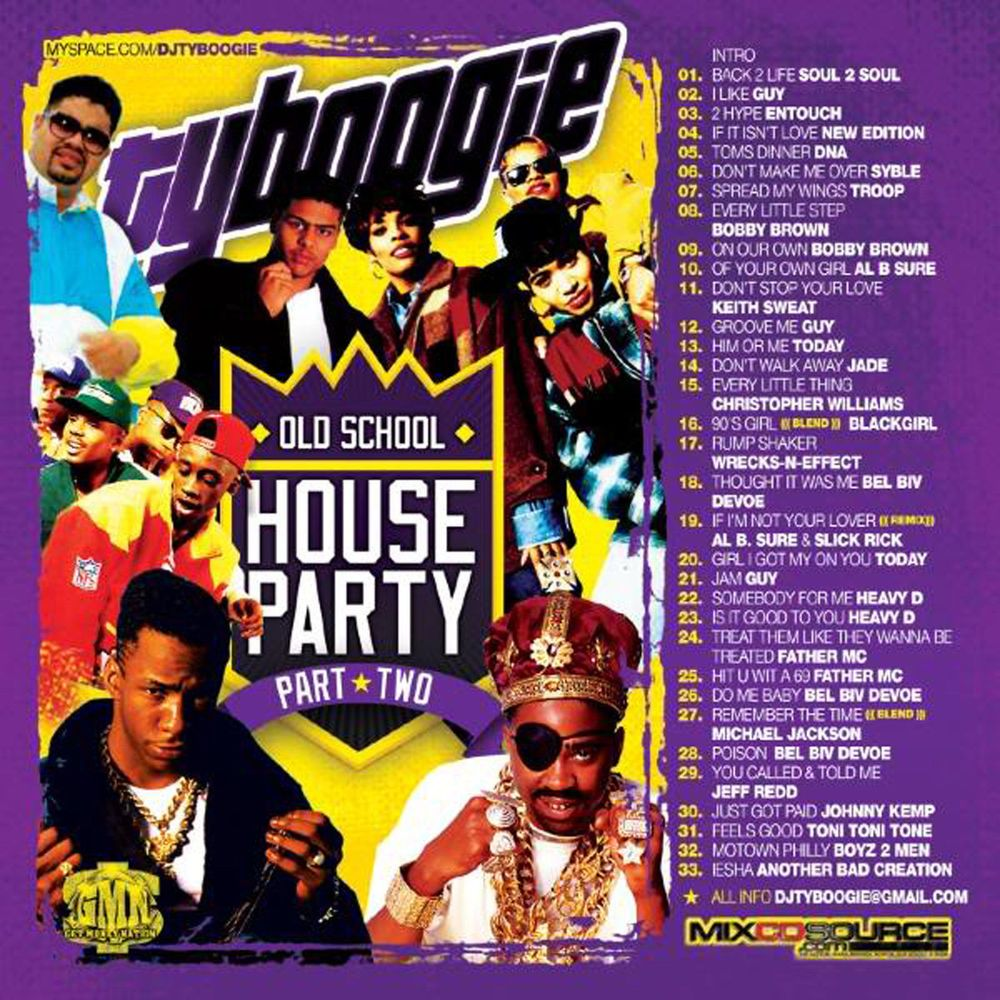 Old school house party pt 2 mix cd classic 80 39 s and 90 39 s for Classic house party songs
