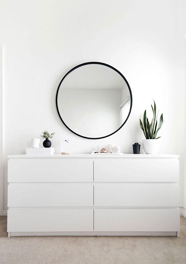 Beruhigendes minimalistisches Schlafzimmer-Moodboard #bedroomideasforsmallroomsforcouples