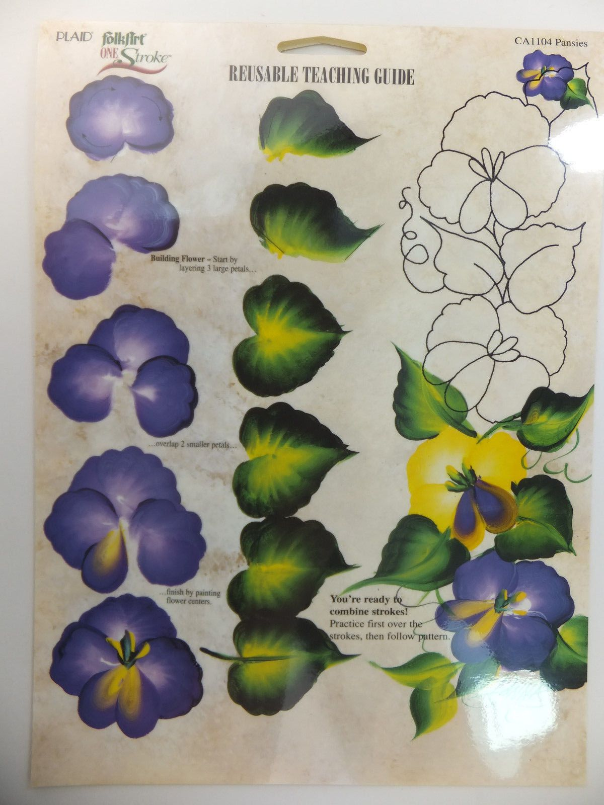 Donna Dewberry One Stroke Painting Rtg Worksheet Flowers Leaves Amp Fruit U Pick