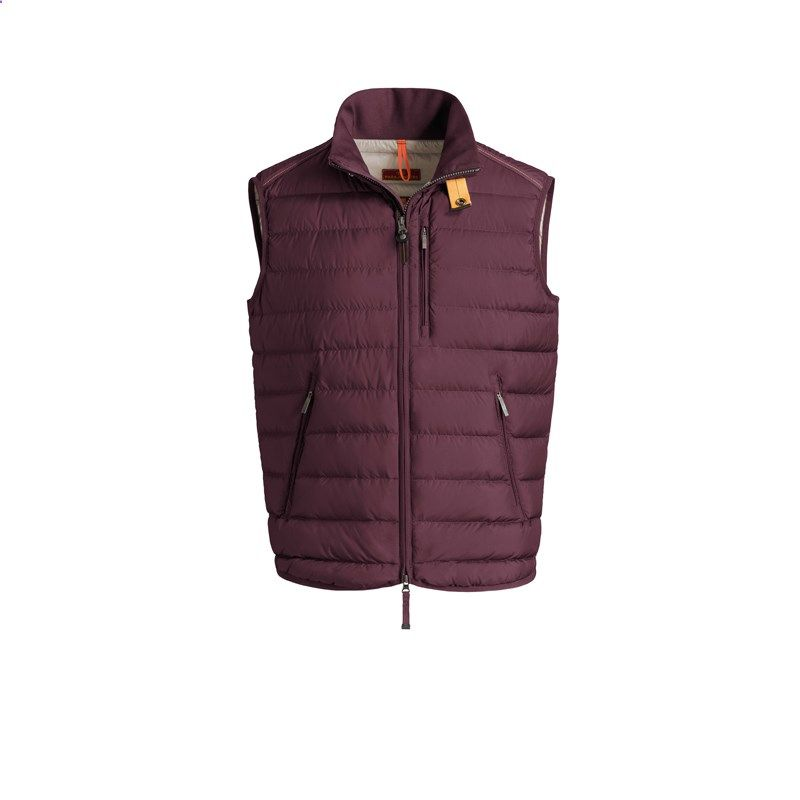 Men Parajumpers Bordeaux Super Lightweight Perfect Taffeta Vest