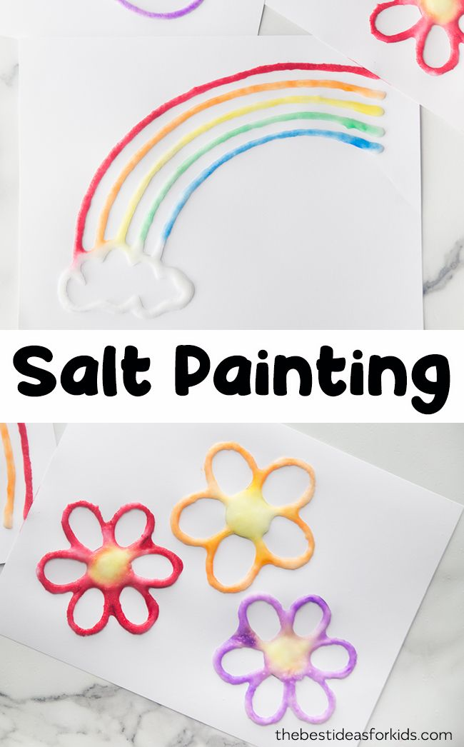 Spring Salt Painting - The Best Ideas for Kids