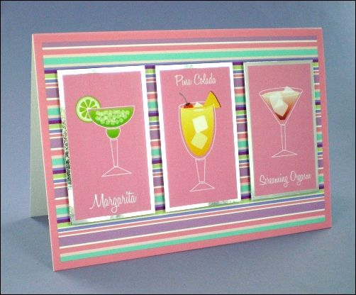 Groovy cocktails card.