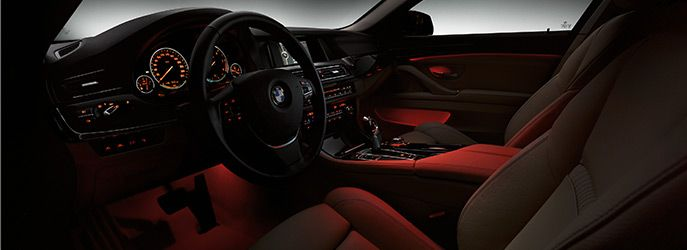 Bmw 535i 2014 Interior In Night With Images Bmw 5 Series New