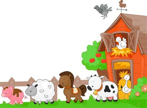 animales de granja infantiles vector - Buscar con Google | varias ...
