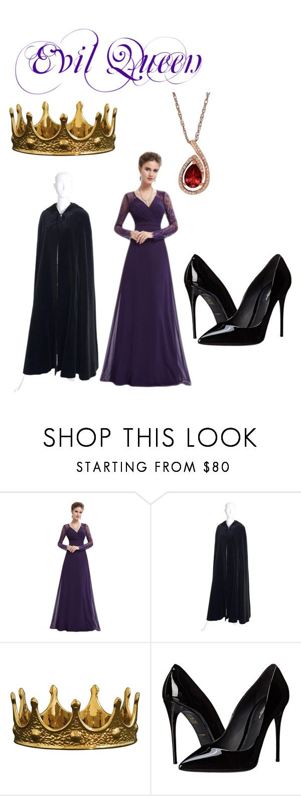 """""""Evil Queen"""" by riki-davis on Polyvore featuring Yves Saint Laurent, Seletti, Dolce&Gabbana and Lord & Taylor"""