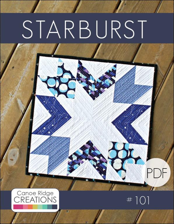 Starburst Mini Quilt - via @Craftsy