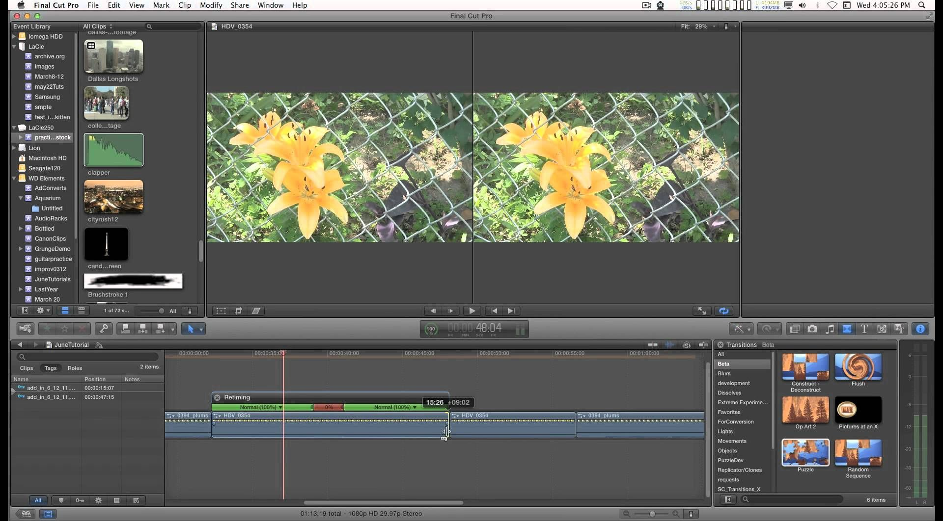 Free Final Cut Pro X (FCPX) Transition: Puzzle and a tutorial on