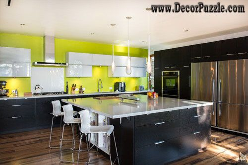 Charmant Mid Century Modern Kitchen, Black And Yellow Kitchen Design