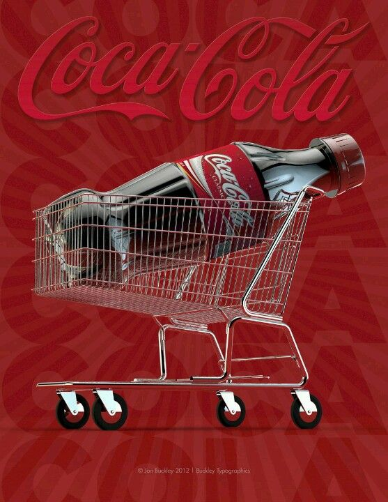 Coca Cola shopping cart