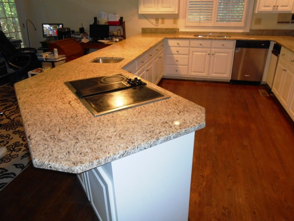 Giallo ornamental granite 4 25 13 granite countertops for White cabinets granite countertops