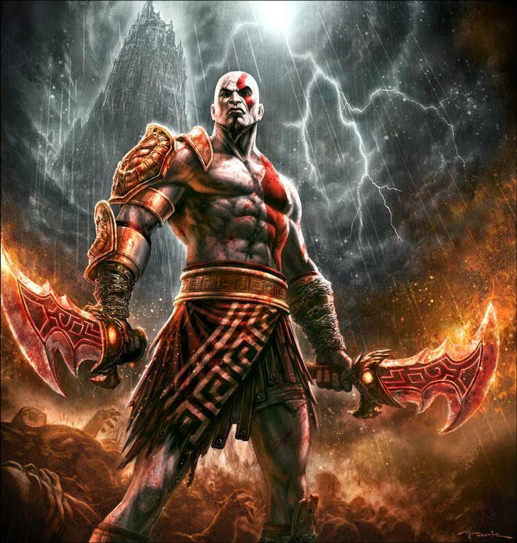 Kratos standing kratos god of war