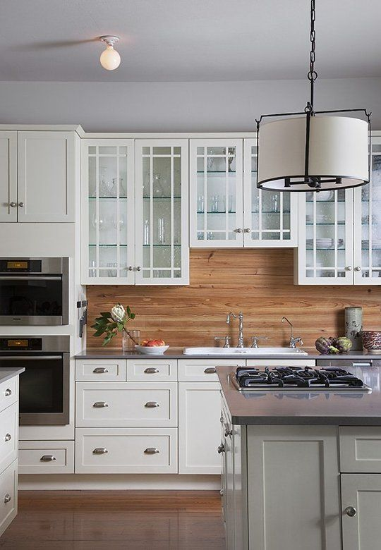 Superior Wood Kitchen Backsplash Ideas Part - 14: A Warm U0026 Cozy Austin Home. Glass Backsplash KitchenWooden ...