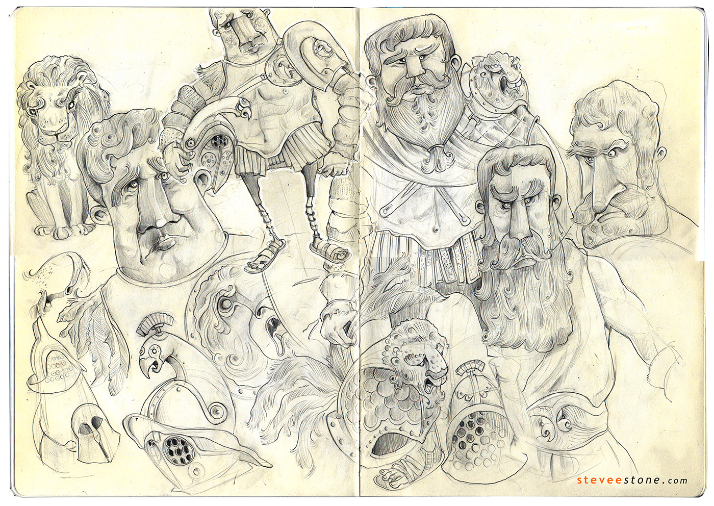Sketchbook | Character Development | Roman Gladiator  A4 Moleskine - Graphite on Paper  ''Sharing the last page from my ...