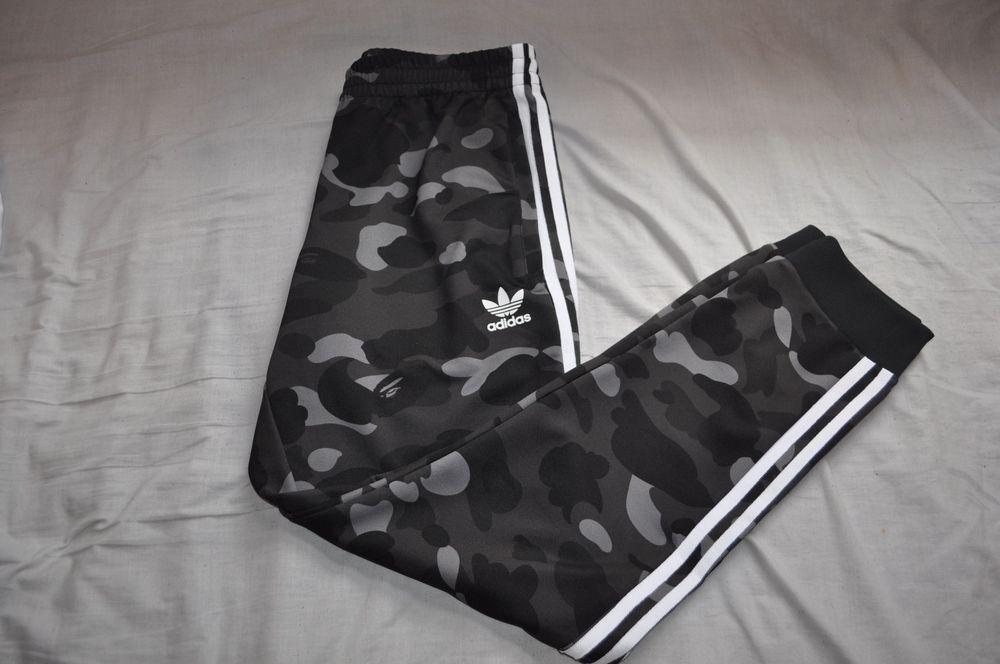 premium selection 19899 d7534 Bape x Adidas Black Camo Joggers Size LargeL A Bathing Ape Bottoms Pants  (eBay Link)