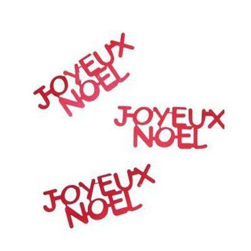 P'TIT CLOWN 90026 Confettis Table Joyeux Noël – Rouge: Les confettis de table sont des confettis métalliques qui vous permettront d'orner…