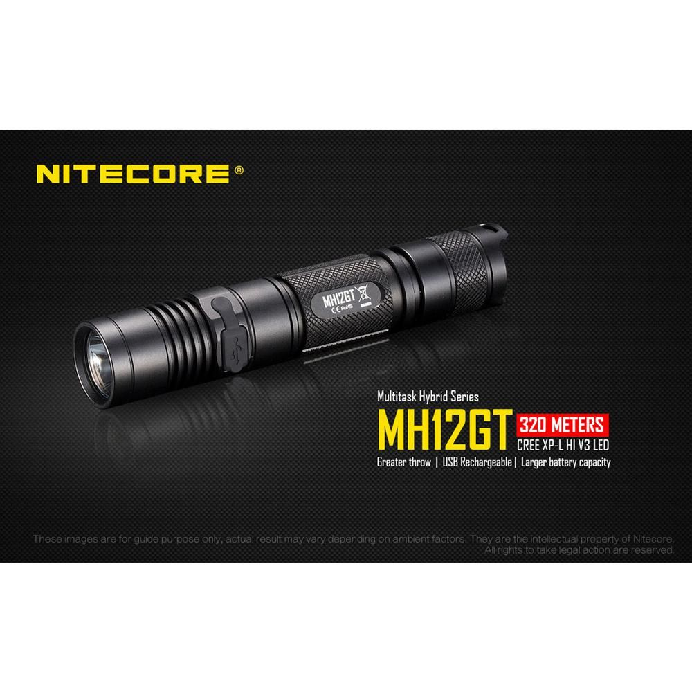 Nitecore Multitask Hybrid Series Mh12gt 1000 Lumens Led Rechargeable Flashlight Mh12gt The Home Depot Rechargeable Flashlight Multi Tasking Flashlight