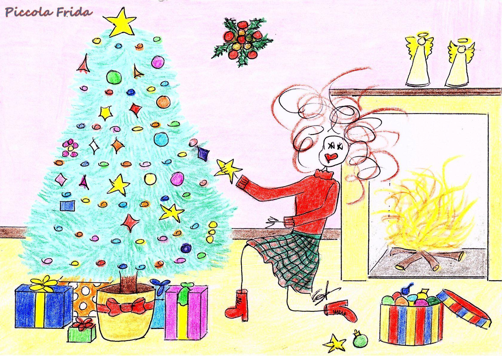 Albero Di Natale 8 Dicembre.L Albero Di Natale Natale Illustrazioni E Disegni Alberi Di