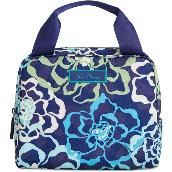 Vera Bradley Lighten Up Lunch Cooler ($34) ❤ liked on Polyvore featuring home, kitchen & dining, food storage containers, katalina blue, lunch cooler, lunch sack, lunch bag, vera bradley and vera bradley lunch bag